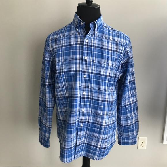 ad111dcb Ralph Lauren Blue Plaid Button Down Shirt 👔